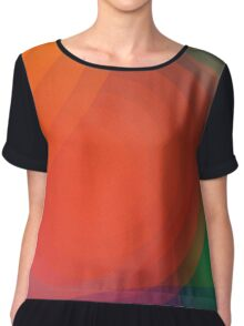 Concentric abstract pattern Chiffon Top