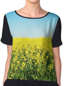 Yellow Field. Chiffon Top