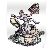Cake Delivery Man in Cake Car Poster