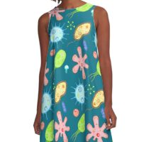 Microbe party A-Line Dress