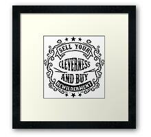 Wise and smart Framed Print