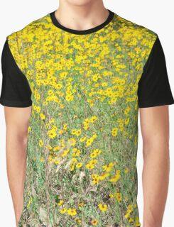 Yellow Flower Field Graphic T-Shirt