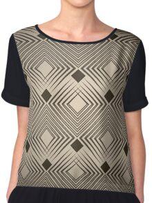 Art Deco Diamond Pattern Chiffon Top