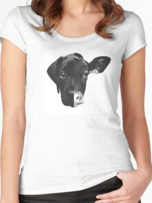 Animal Equality - (Black & White Version) Women's Fitted Scoop T-Shirt