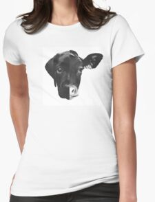Animal Equality - (Black & White Version) Womens Fitted T-Shirt
