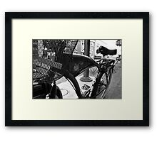 Jimmey Buffett Bicycle  Framed Print