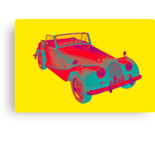 1964 Morgan Plus 4 Convertible Sports Car Pop Art Canvas Print