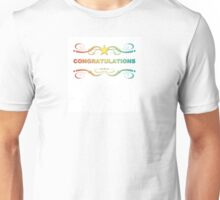 rainbow congratulations Unisex T-Shirt