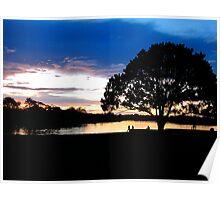 Sunset at Puerto Narino, Amazon River Poster