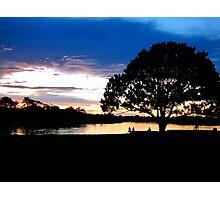 Sunset at Puerto Narino, Amazon River Photographic Print