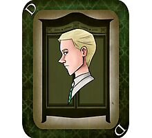 Draco Malfoy Playing Card Photographic Print