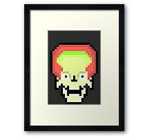 Mars Attacks 8bit Framed Print