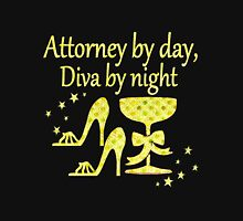 GOLD ATTORNEY BY DAY, DIVA BY NIGHT DESIGN Women's Fitted Scoop T-Shirt