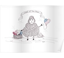 Tangled Patriotic Sheep Poster