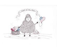 Tangled Patriotic Sheep Photographic Print