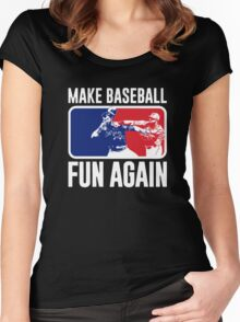 Make Baseball Fun Again Women's Fitted Scoop T-Shirt