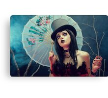 Blind Mag portrait with umbrella Canvas Print