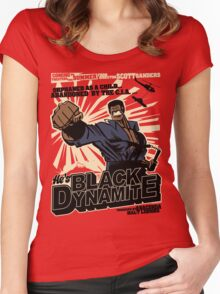 Black Dynamite! Dy-Na-Mite!! Women's Fitted Scoop T-Shirt