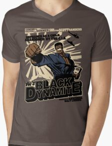 Black Dynamite! Dy-Na-Mite!! Mens V-Neck T-Shirt