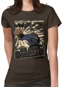 Black Dynamite! Dy-Na-Mite!! Womens Fitted T-Shirt