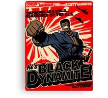 Black Dynamite! Dy-Na-Mite!! Canvas Print