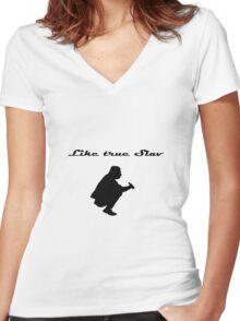 True Slav Women's Fitted V-Neck T-Shirt