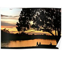 The sunset glows on Puerto Narino, Amazon River Poster