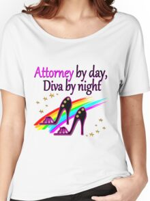 ATTORNEY BY DAY, DIVA BY NIGHT SHOE QUEEN Women's Relaxed Fit T-Shirt