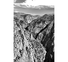 Black Canyon of the Gunnison 1 BW  Photographic Print