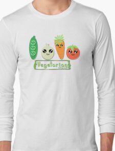 Vegetarian and proud! Long Sleeve T-Shirt