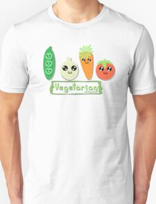 Vegetarian and proud! Unisex T-Shirt