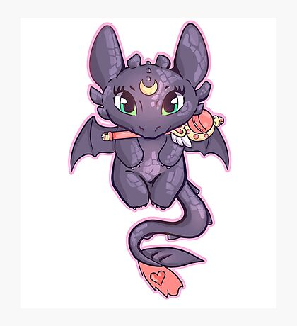 Sailor Toothless (Sticker Version) Photographic Print