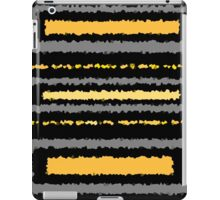 Black ochre yellow gold gray abstract geometric pattern     iPad Case/Skin