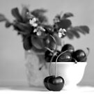 Still life with cherries by JuliaPaa