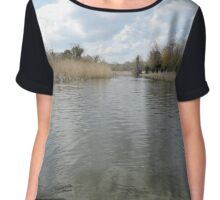 Across The Water: Thorpeness Women's Chiffon Top