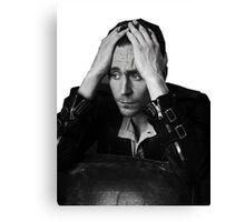 Tom Hiddleston - Black and White Canvas Print