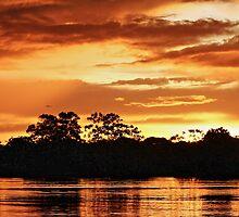 Boat ride sunset in Lake Tarapoto, Amazonas (Colombia) by lunaencantada