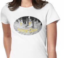 Put your drink down and dance ! Womens Fitted T-Shirt