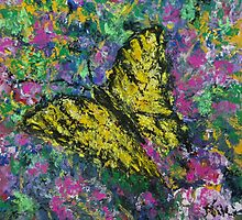 Swallowtail (Mixed media) by Niki Hilsabeck