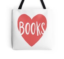 Heart Books - Red and white - book worm collection Tote Bag