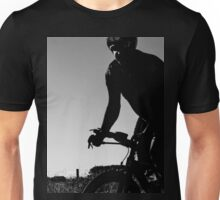 Silhouette cyclist  Unisex T-Shirt