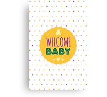 New Baby Wishes Canvas Print