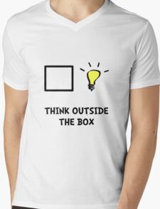 Think Outside The Box Mens V-Neck T-Shirt