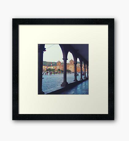 Plaza de Armas Arches Framed Print