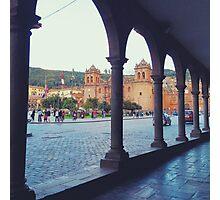 Plaza de Armas Arches Photographic Print