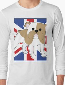 English Bulldog Flag Long Sleeve T-Shirt