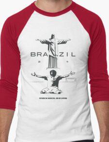 2014 Brazil World Cup Men's Baseball ¾ T-Shirt