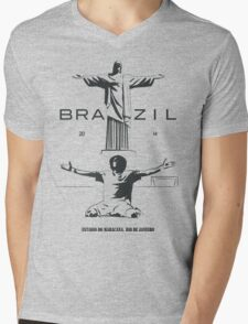 2014 Brazil World Cup Mens V-Neck T-Shirt