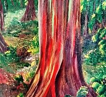 Mile marker 7: Painted Forest...Along the Road to Hana by WhiteDove Studio kj gordon
