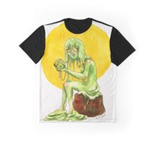 Slime Girl Watercolor Graphic T-Shirt